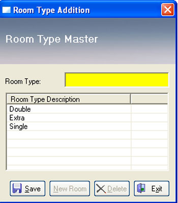 Room Type in Hotel Software
